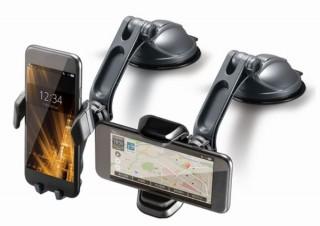 ロングアームで使いやすく見やすい位置に設置できる車用「スマートフォンホルダー」