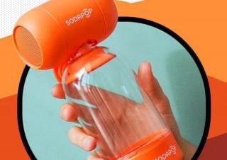 重低音を自らブーストする! ペットボトルを使ったBluetoothスピーカー「SODAPOP」