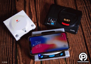 「メガドライブ」「セガサターン」「ドリームキャスト」3種のゲーム機型ワイヤレス充電器が発売