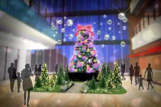 増田セバスチャン氏のデザインによるツリーがテラスモール松戸の初のクリスマスイベントに登場