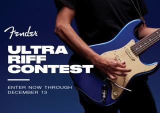 フェンダーがオリジナルリフの演奏動画を募集する「FENDER ULTRA RIFFコンテスト」を開催