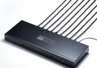 4K@60Hzの高画質映像に対応し、最大8台の画面に同時分配出力可能な「HDMI分配器」