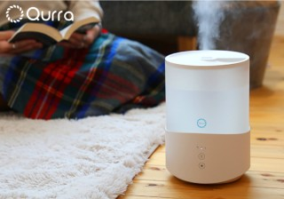 最大約31時間加湿!卓上・床置きどちらもOKのコンパクトな「Qurra 超音波加湿器 2.5L Mois famil」