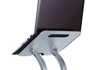 サンワサプライ、ノートパソコンを見やすい高さや角度に調節できる2種のアルミスタンドを発売