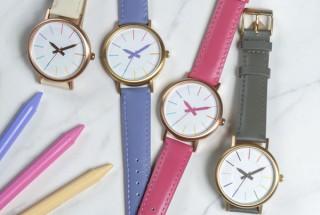 時計の針がクーピーペンシルの「クーピー柄ウォッチ02モデル」にシックな新色4カラー登場