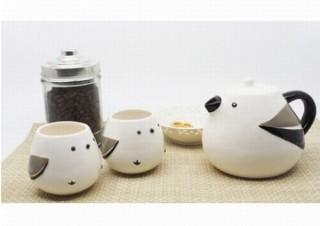シマエナガの可愛さをポットとカップで完全再現「シマエナガ親子のティーセット」発売