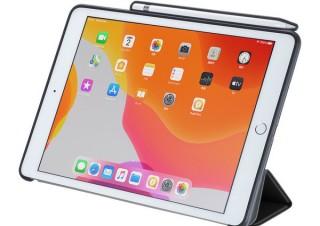 サンワサプライ、Apple Pencil収納ポケットが付いたiPad用ソフトレザーケース「PDA-IPAD1614」