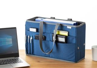 サンワサプライ、フリーアドレスデスクなどに使えるテレワークバッグ発売