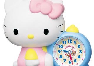 「お寝坊さんだとキティ、おこっちゃうぞ!」ハローキティのかわいすぎるおしゃべり目覚まし時計