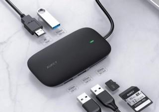 AUKEY、USB-Aポート・カードリーダー・HDMIポート搭載の「USB-Cハブ」を半額セール