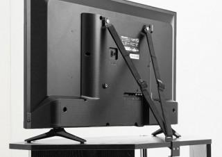 サンワサプライ、クランプ固定と壁固定の2通りから選べるテレビ用転倒防止ベルトを発売