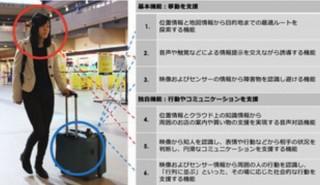 走ってナビする「AIスーツケース」、日本IBMや三菱自動車らが本気で開発へ