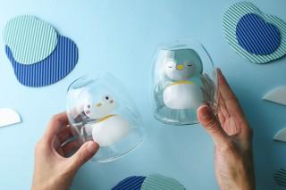 アイワ工業、飲み物を注ぐとペンギンが姿を見せるグラスを発売