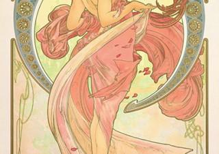 ミュシャが同時代や後世に与えた影響も紹介される「みんなのミュシャ ミュシャからマンガへ-線の魔術」