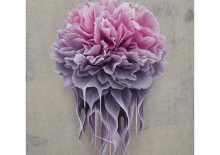 花をモチーフに精緻に描きこむ作品を制作している木村佳代子氏の個展「GRAVITY」