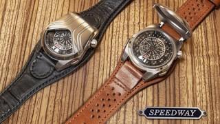 ヴィンテージカーをモチーフに文字盤を316度覆った腕時計「Speedway GBV」