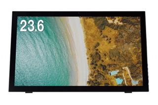 グリーンハウス、Webカメラがベゼルに内蔵された23.6型の液晶ディスプレイ「GH-LCT24B-BK」を発売