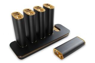 オウルテック、モバイルバッテリー5台とステーション型充電器のセットを発売
