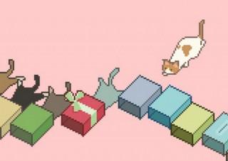 ヘッスラする猫のピクセルアート「猫ズサー」モチーフの雑貨が発売開始