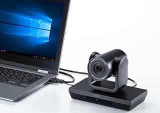 サンワサプライ、3倍ズーム機能搭載のテレビ会議用カメラを発売