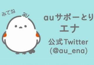 au、雪の妖精「シマエナガ」モチーフのマスコット「auサポーとりエナ」のアカウント開設