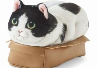 猫の体のほとんどが見えちゃってるのに安心した表情の「その箱絶対小さいよポーチ」