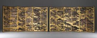 凸版印刷が「レフィナグラフィ」技術で制作した国宝の屛風の複製品を三越伊勢丹で販売