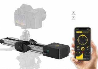 ナニワ商会、アプリでリモート操作できる小型軽量の電動カメラスライダーを発売