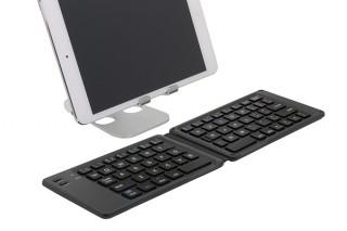 オウルテック、2つ折りタイプのBluetoothキーボード「OWL-BTKB6501」を発売