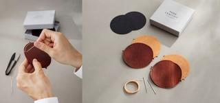 土屋鞄製造所、上質な革コースターを手作りできるホームクラフトキットを発売