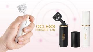 リスティック、重さ89gでコスメのような小型ポータブル扇風機OCLESSを発売