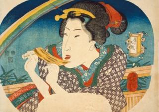 浮世絵の作品や料理書などの展示を通じて江戸の食文化を紐解く「おいしい浮世絵展」