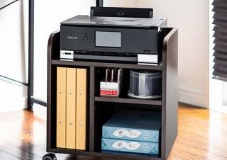 用紙やインクも収納できるインクジェットプリンタ台「100-PS014M」がサンワダイレクトで販売中