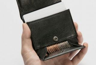 野生イノシシ革を使い薄く軽く、カード&コイン同時収納もできる革財布「CATAe」