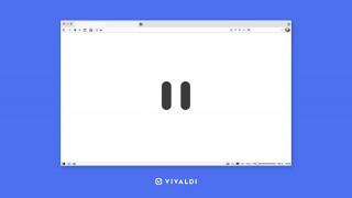 """無料のWebブラウザ「Vivaldi」に閲覧中の情報を即座に隠せる""""一時停止""""ボタンが追加"""