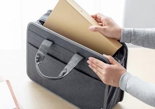 サンワサプライ、A4書類やパソコンの持ち運びに便利なテレワークバッグを発売