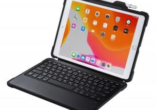 サンワサプライ、10.2インチiPad専用のケース付きキーボード「SKB-IP5BK」を発売