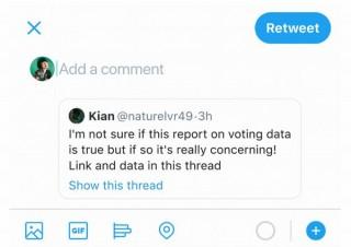 Twitter、リツートの仕様を米大統領選版に変更。デマ拡散防止用のワンステップを追加