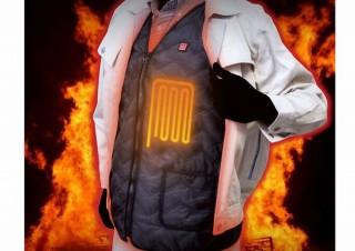 サンコー、電熱ヒーター搭載で寒い外でもあたたまる「電熱ヒーター内蔵ベスト」発売