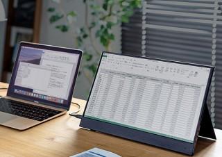 サンワサプライ、Type-C接続で使えるモバイルモニターを発売
