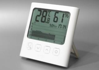 きのうの朝よりも暑い? 寒い? がすぐわかる。最大7日の温度湿度を記録しグラフで表示できる温湿度計