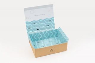 内側にオリジナルデザインの4色印刷もできる段ボールパッケージ 「SMART CARTON」
