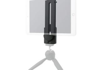 グリーンハウス、手持ちの三脚を活用できるタブレットホルダー「GH-STHA-BK」を発売