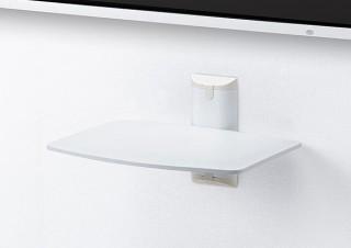 サンワサプライ、壁の種類に合わせた取り付けパーツ付属の白色壁掛けラックを発売