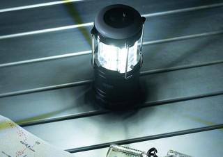 サンワサプライ、上部を引き上げるだけで点灯する高輝度ランタン2個セットを発売