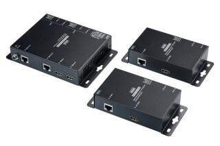 サンワサプライ、HDMI信号を最大100mまで分配および延長できるPoE対応エクステンダーを発売