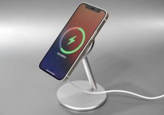 iPhoneを充電しながら通知チェックやタップ操作も可能、MagSafe充電器をスタンド化するオプション