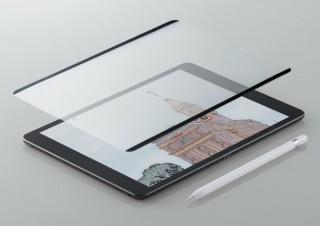 エレコム、紙のような描き心地を実現した「iPad用着脱式ペーパーライクフィルム」を発売