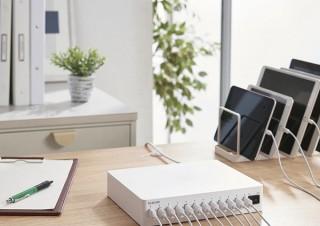エレコム、最大12台のタブレットやスマホを接続できるAC充電器「MPA-ACSC01WH」