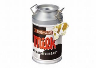 チロルチョコ、牛柄デザインの缶型商品「ミルク缶」を新発売